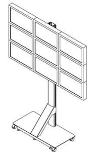 Напольное крепление для видеостены